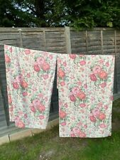 More details for pair of floral lined curtains for use or repurpose each measures d182 x w158cms
