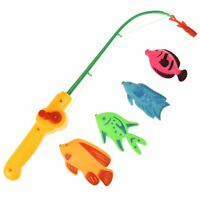 Novelty Toilet Fish & Flush Game Magnetic Fishing Rod Potty Bathroom Funny Gift