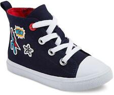 New Cat & Jack Youth Super Hero High Top Navy Diem Canvas Sneaker Shoes Size 12