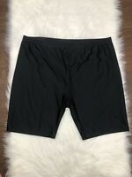 Swimsuits For All Black Biker Swim Short Size 28 NEW