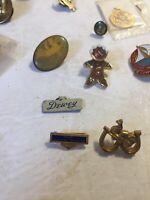 VTG Lot of 40+Lapel Pins VFW Eastern Star Dewey