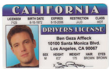 Ben Affleck / star of Daredevil and BATMAN collectors card Drivers License