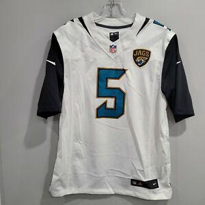 Nike Authentic NFL Jacksonville Jaguars Blake Bortles 5 Jersey Mens M White Sewn