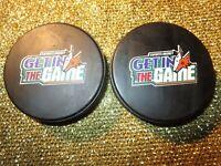 Arizona Phx Coyotes (2) Howler Head NHL Hockey Pucks