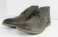 $80 Franco Fortini Mens Hudson Lace Up Chukka Boot Shoes, Grey, US 13