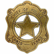 American Civil War Old West Era Chief Of Police Badge Ennis Texas 6x7cms