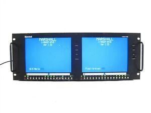 Marshall VR842PAFHD Dual Screen 8.4 inch Rack Mount LCD Panel V-R842P-AFHD