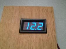 Blue Digital Voltmeter LED 12v 24v Battery Charge Indicator Tester Panel Gauge