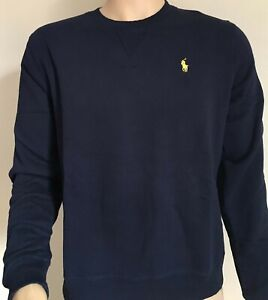 Mens Ralph Lauren Long Sleeve Cotton T Shirt Navy Size Medium RRP £55