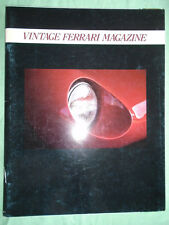 Vintage Ferrari Magazine Preview Edition Ferrari 500 Modial
