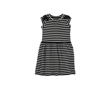 Carter's Girls Striped Jersey Dress Black Size 10/12 NWT