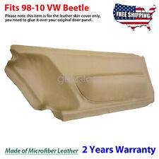 Door Panel Insert Cards Leather Synthetic For Volkswagen Beetle 1998 2010 Beige Fits 2004 Volkswagen Beetle