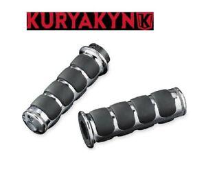 6205 Kuryakyn Manopole Iso Grips cromate Harley Davidson acceleratore cavo