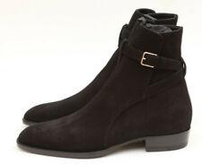 NIB Saint Laurent Wyatt 30 Jodhpur Nero Black Suede Boots EU 40 US 7 -  $1045