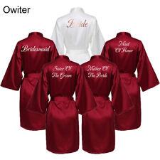 Silk Satin Robe Bridesmaid Robes Bride Robe Women Wedding Bridal Robe Sleepwear