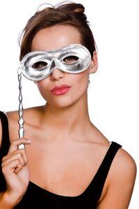 Métallique Masque sur Bâton Fantôme De L'Opéra Accessoire Déguisement