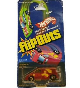 Hot Wheels #2284 Flip-Outs Capsider RED Die Cast Car Mattel Vintage 1985
