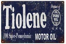 Tiolene Gas and Motor Oil Station Sign Garage Art