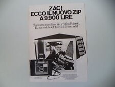 advertising Pubblicità 1972 POLAROID LAND CAMERA ZIP