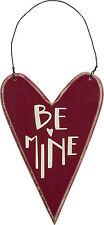 "Primitives by Kathy #23282 heart chalk art ornament ""Be Mine"""
