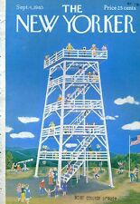 1965 Ilonka Karasz ART COVER ONLY - Observation Tower / Lookout Great for decor