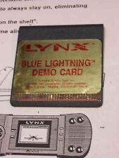 Blue Lightning Dealer Demo Lynx Atari Collectors! New!