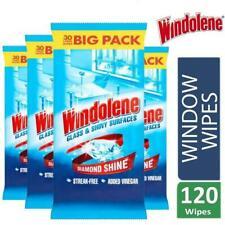Original Windolene Pack 30 Glass & Shiny Surfaces Streak Free Window Wipes