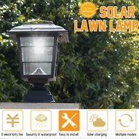 Solar Post Cap Lawn Lamp Outdoor Garden LED Waterproof Wall Decorative