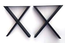 "16"" Heavy Duty Black X Metal Legs for Coffee Table Desk Sofa Cabinet ET Ctr 2PC"