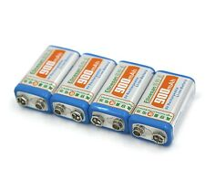 4pcs Etinesan 900mAh 9V 9 Volt 6F22 Block Lithium Ion Rechargeable 6F 22 Battery