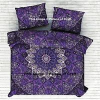 Quilt Doona Cover Indian Pure Cotton Star Mandala Blanket Duvet Cover Set Hippie