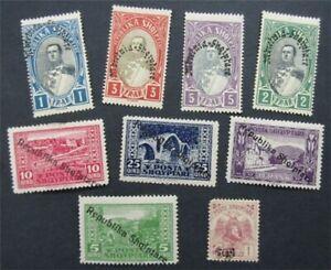 nystamps Albania Stamp # 180//237 Mint OG H     S24x004