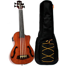 "30"" Concert mahogany with f hole Ukulele Bass Ukelele Uke with EQ without fret"