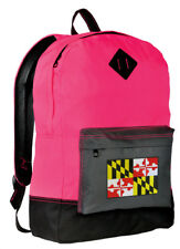 Maryland Backpack  SCHOOL BAGS BACKPACKS Stylish Neon Pink FULLY LINED!
