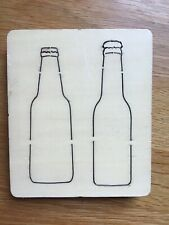 Unbranded Wooden  Die - Beer Bottles - Similar Size To Sizzix