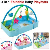 4 in 1 Foldable Baby Kids Play Mat Light Musical Toy Floor Crawling Sit Activity