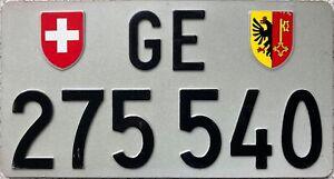 Switzerland Geneva License Swiss Licence Number Plate GE 275 540