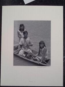 Amazon River Peru Jungle Yaqua Tribe Silver Gelatin Photo #4 Family In Boat
