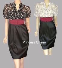 Polka Dot Regular Size Sheath Dresses for Women