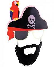 Pirate Parrot Sunglasses Eye Glasses Funny Mask Gag Gift Halloween SunStaches