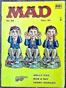 MAD Magazine #36 Dec 1957 VERY GOOD++! 4.5 .99 Start! SUPER SOLID! NICE-LOOKING!