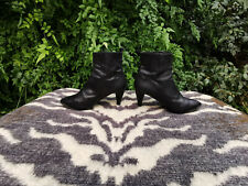 Costume National Black Leather Ankle boots UK size 3.5 EU 36.5