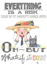 Mary Engelbreit-Everything Is A Risk-Blank Greeting Card w/Envelope-New!