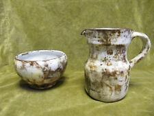 Pichet, bol poterie de Vallauris A Kostanda (vallauris pottery bowl & pitcher)