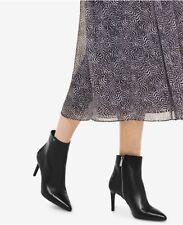 NIB Michael Michael Kors Women's Dorothy Flex Mid Bootie Black Leather Boot Sz 7