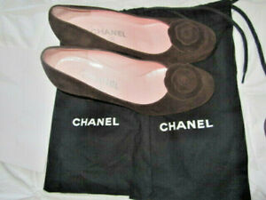 Chanel Camelia suede court shoes