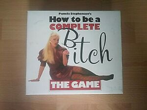 How To Be A Complete Bitch Board Game - 1988 Paul Lamond Games - 100 % Complete