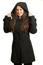 Hood Hip Length Double Breasted Coats & Jackets for Women