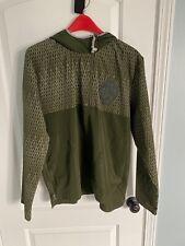 Rare Mens L Adidas Basketball Olive Green Sample 1/4 zip Rain Jacket Windbreaker