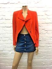 Isabella Oliver Bright Orange Tailored Jacket Zip Detailing UK 12 RRP £189